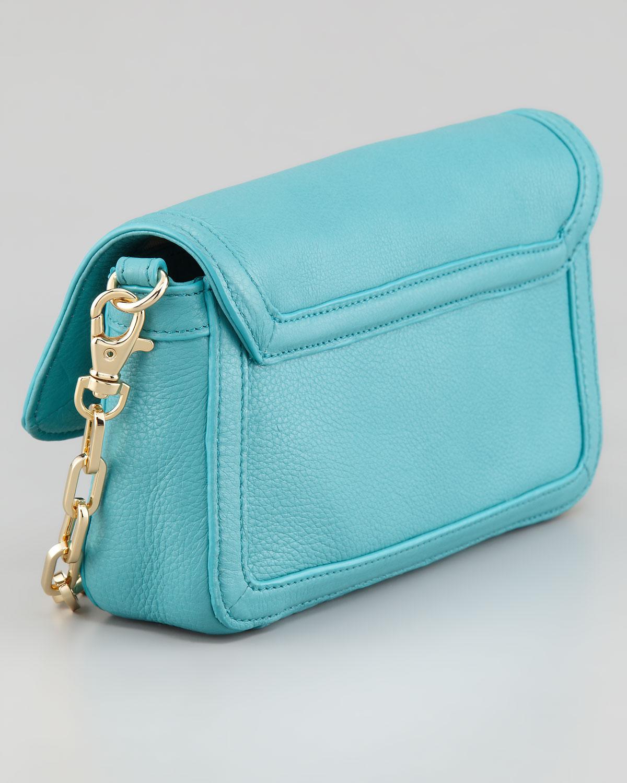 5b770f1f1ea Lyst - Tory Burch Amanda Mini Crossbody Bag Turquoise in Blue