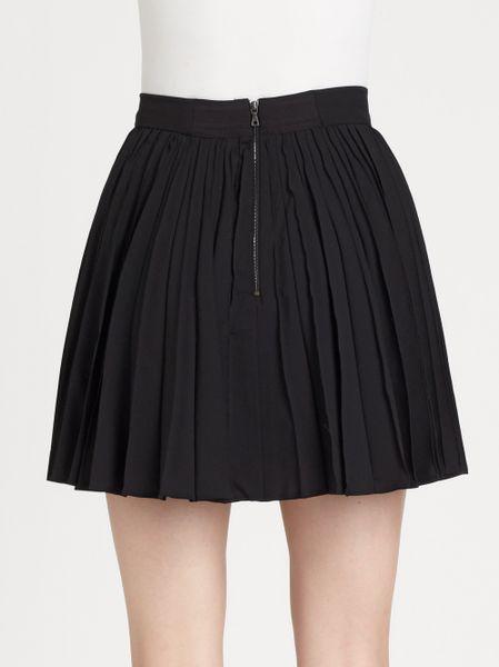 olette pleated mini skirt in black lyst