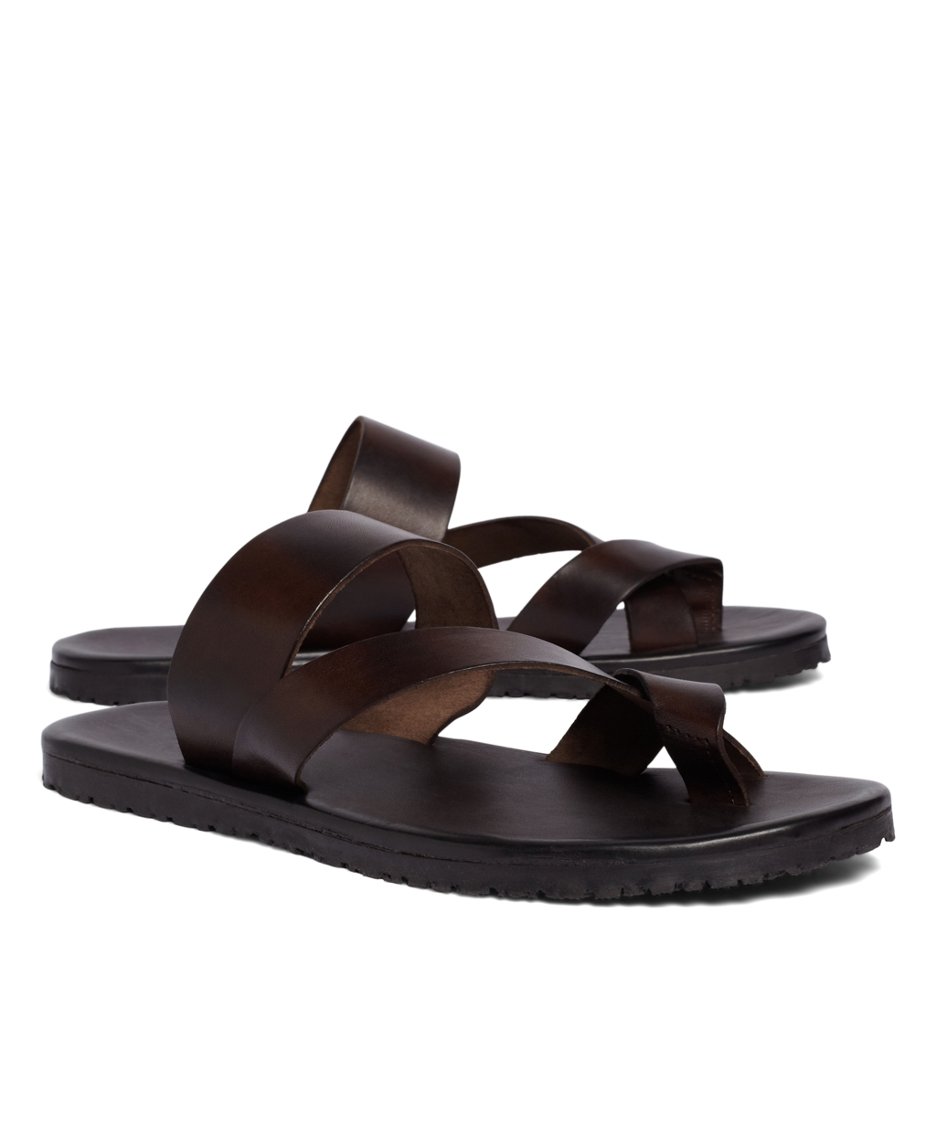 be280d37fd084 Lyst - Brooks Brothers Crisscross Sandal in Brown for Men