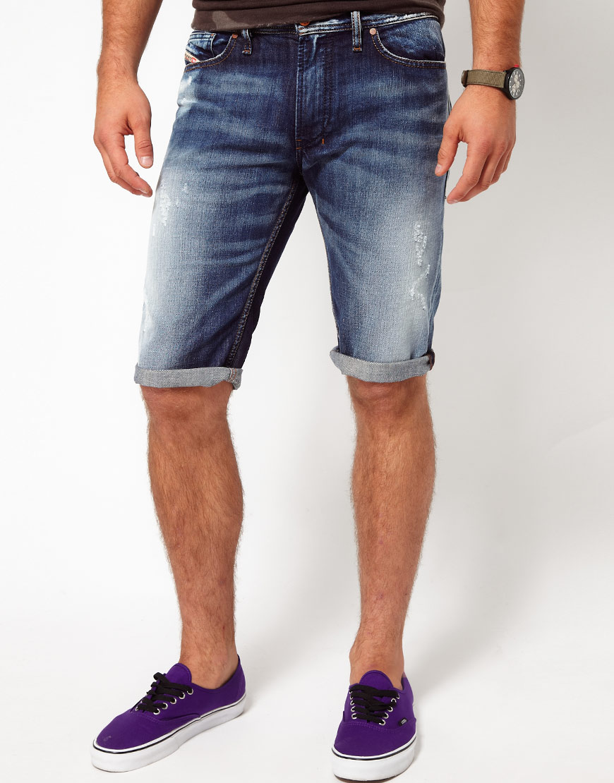 79f28b2f9f DIESEL Denim Shorts Shioner in Blue for Men - Lyst