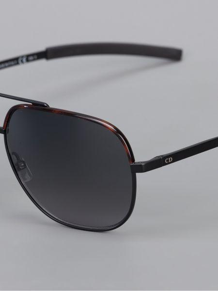 db803c6f95778 Dior Homme Titanium Aviator Sunglasses in Black for Men
