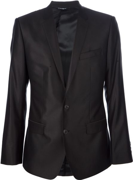 Dolce & Gabbana Slim Fit Suit in Black for Men - Lyst