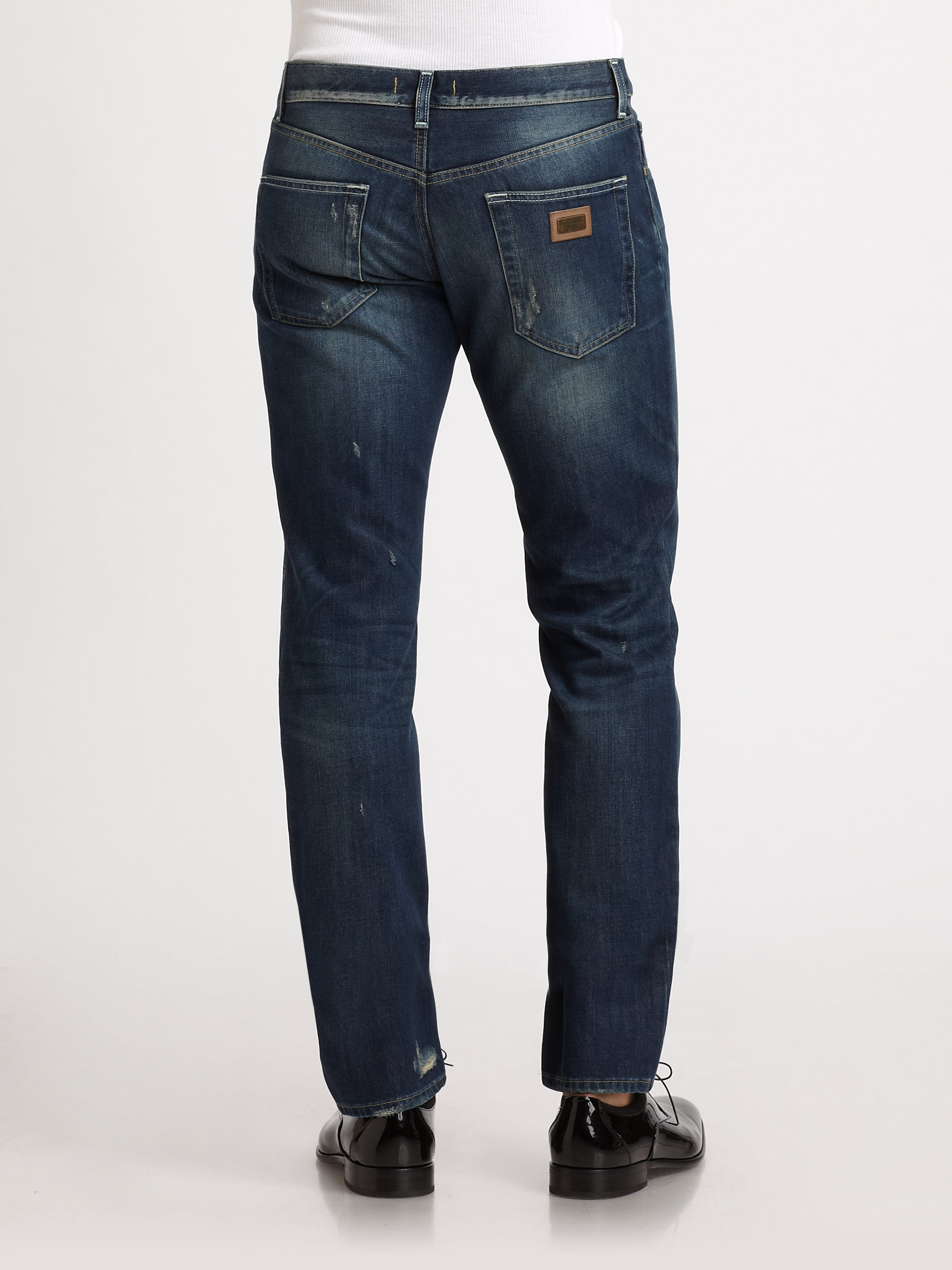 Lyst - Dolce & Gabbana Distressed Jeans in Blue for Men