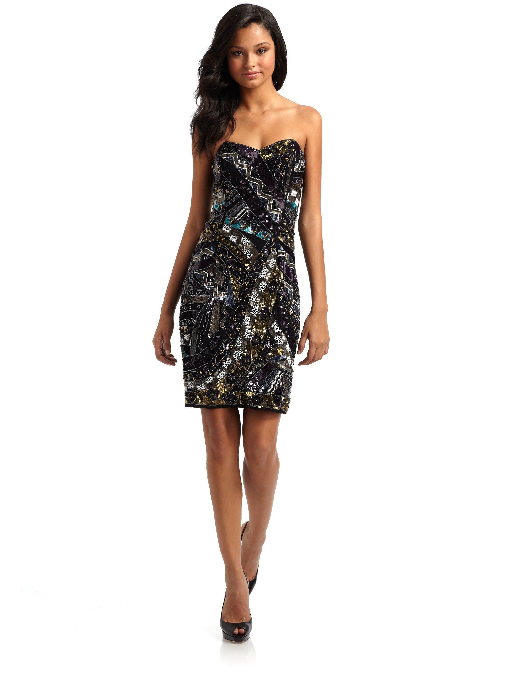 Black Sparkle Strapless Dress
