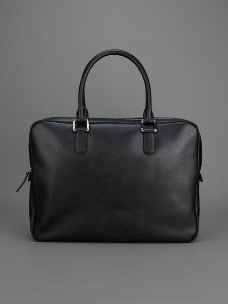 Giorgio Armani Branded Laptop Bag In Black For Men Lyst