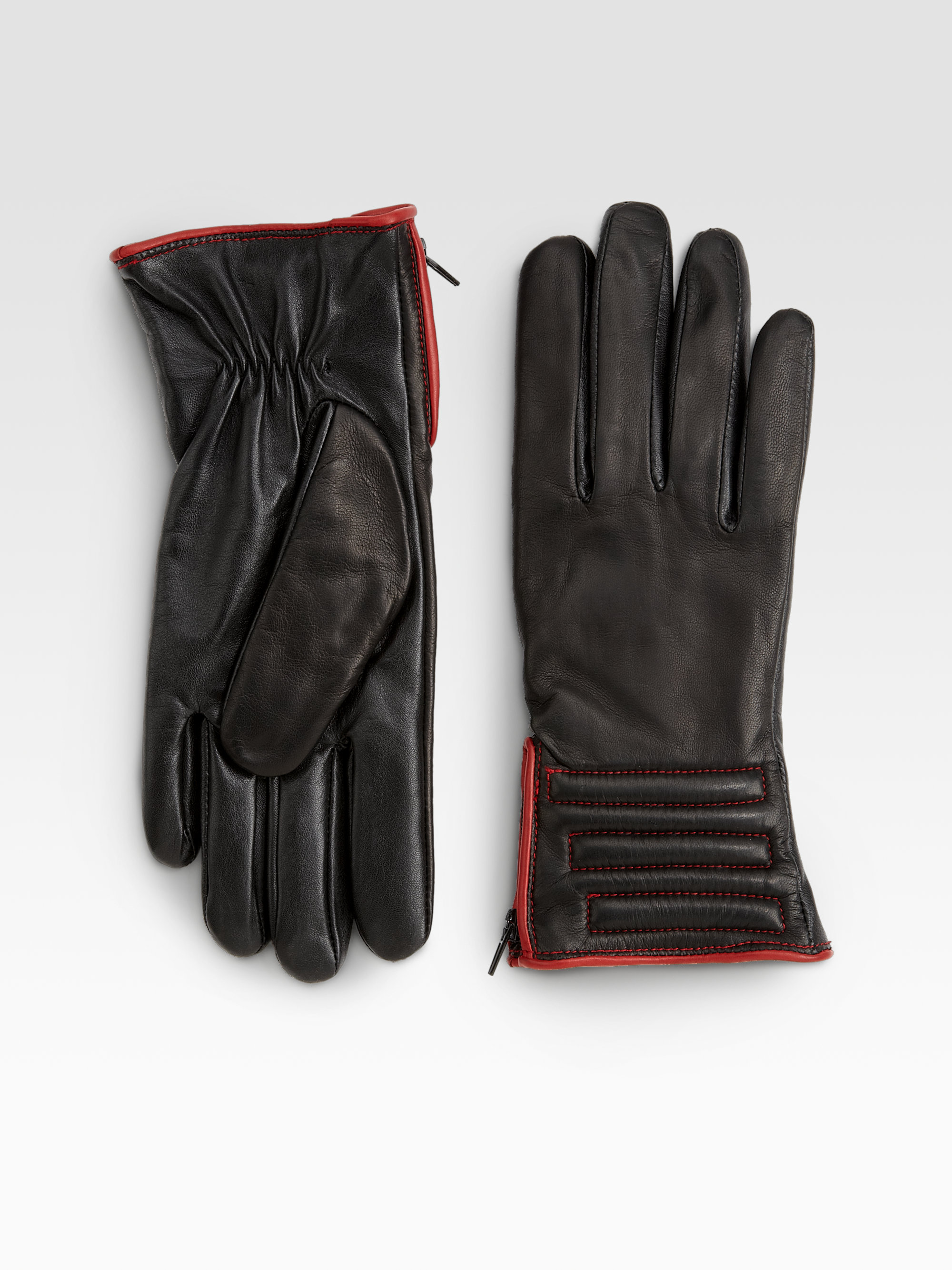 Womens leather touchscreen gloves - Gallery Previously Sold At Saks Fifth Avenue Women S Leather Gloves