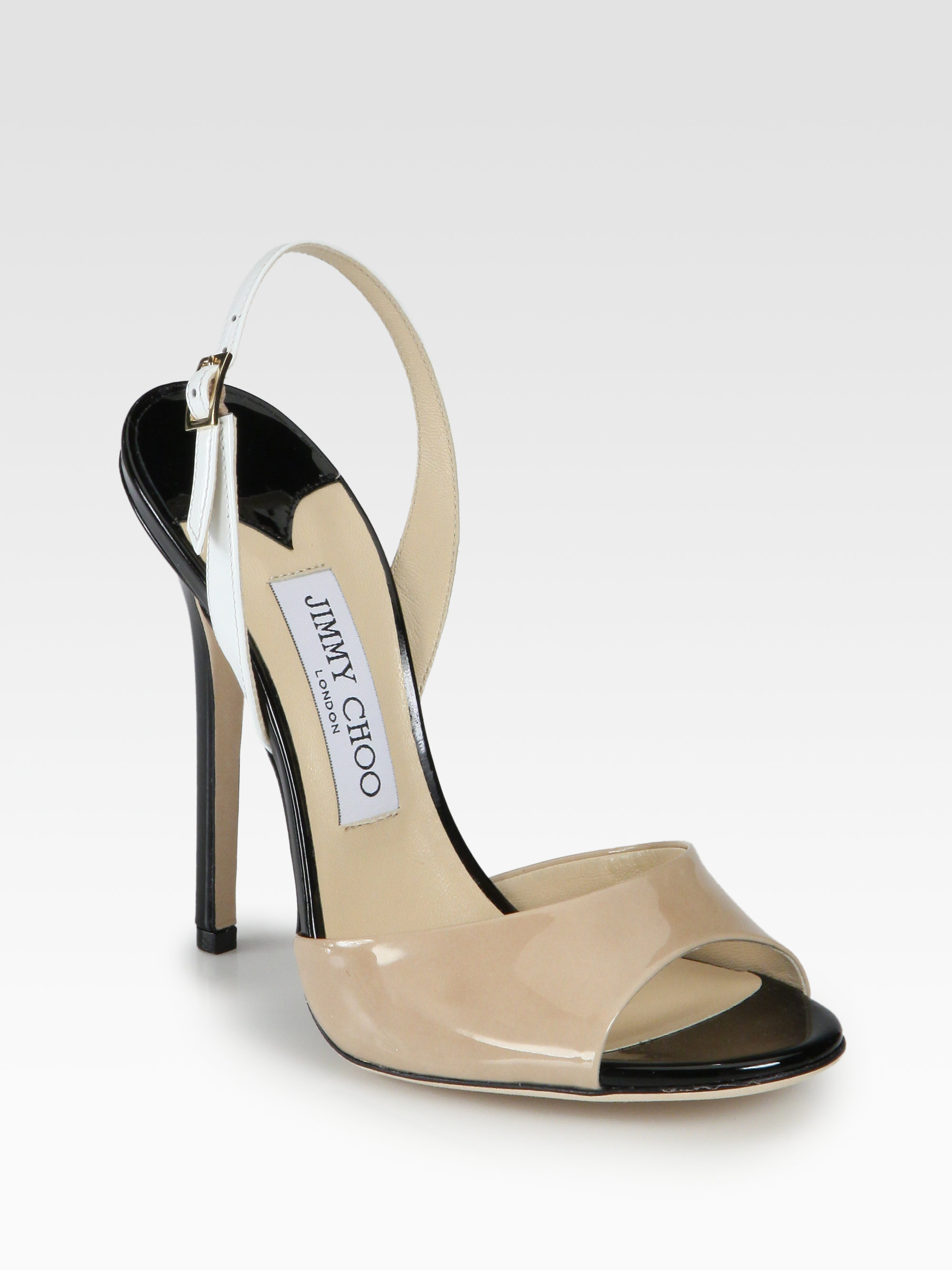 discount cheap Jimmy Choo Slingback Leather Sandals cheap sale many kinds of cheap price from china QbdGb