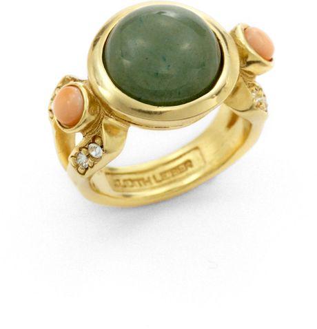 judith leiber dame aventurine ring in green lyst