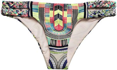 Mara Hoffman Electric Casinoprint Bikini Briefs in Multicolor