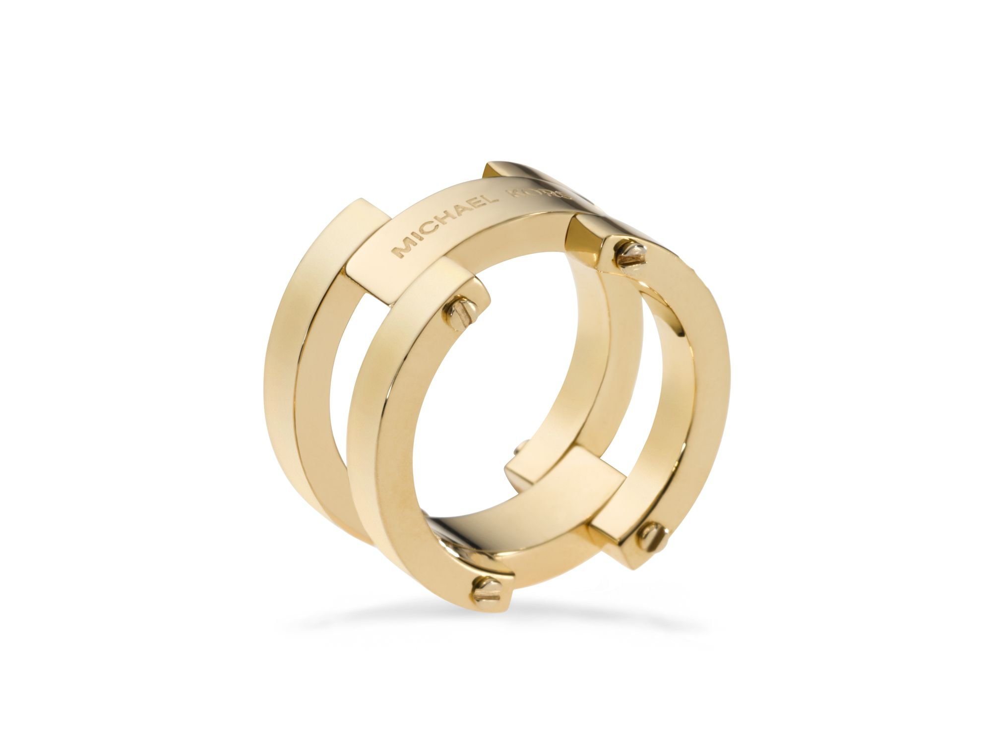 michael kors gold link ring in gold lyst