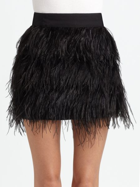Black Feather Skirt River Island