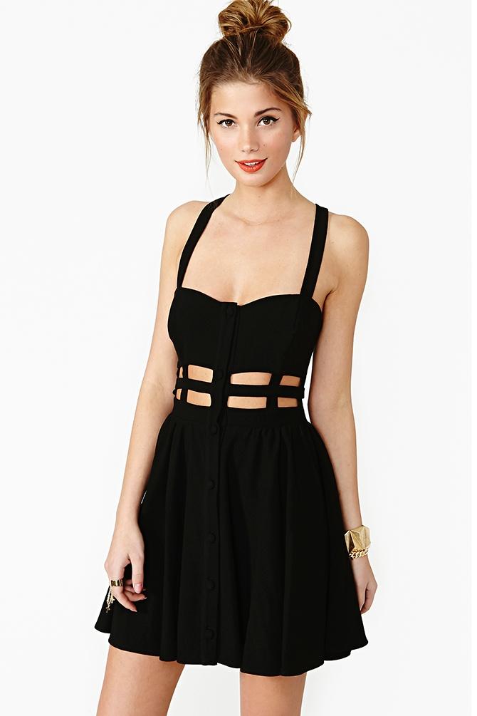 Nasty gal black skater dress