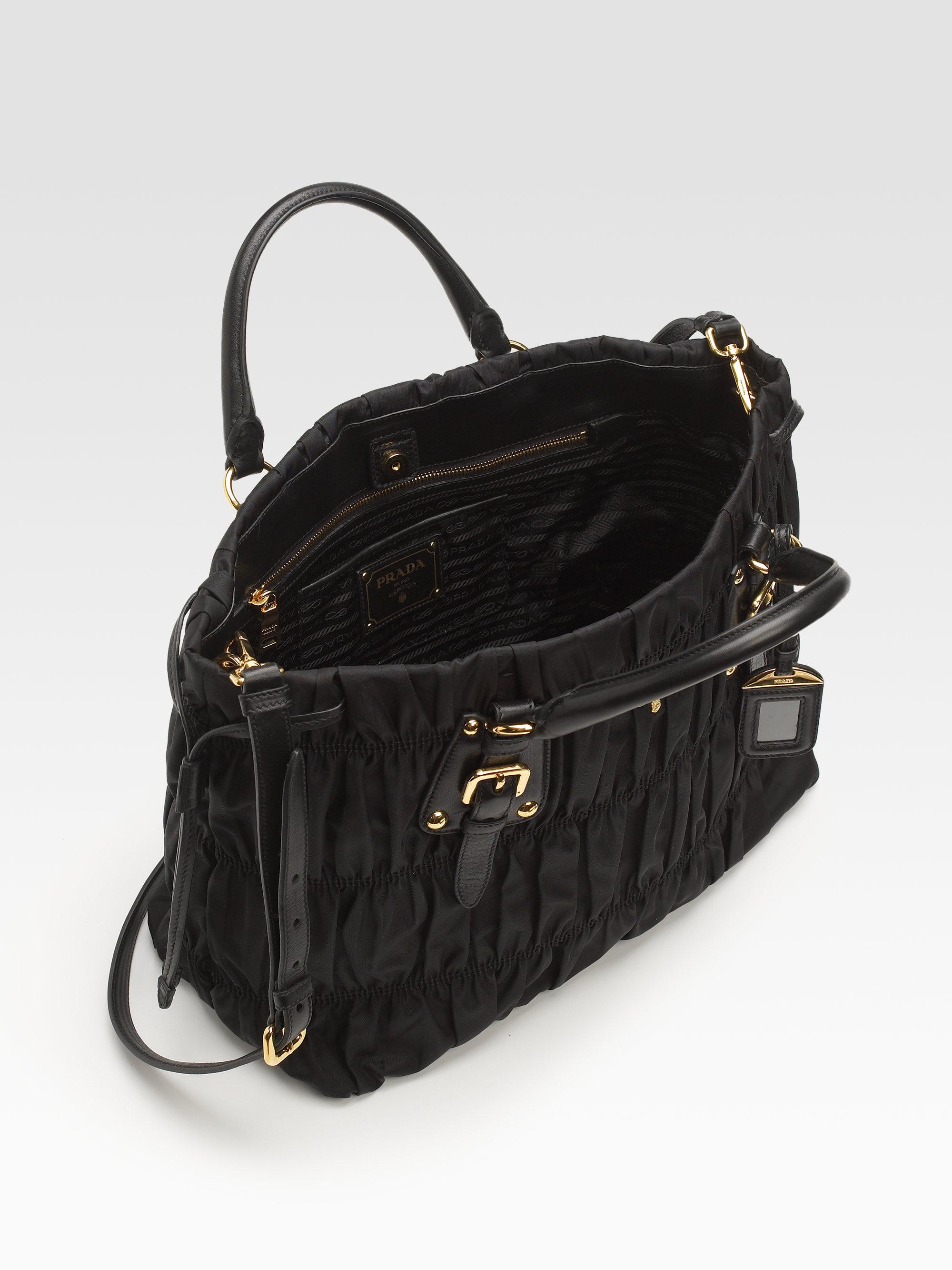 ... purchase good lyst prada tessuto gaufre tote bag in black a8447 143c0  e3e50 e6e4a b12c17fc9063d