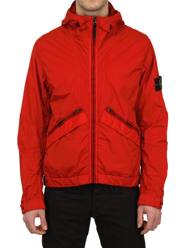 Stone island Waterproof Dyed Nylon Casual Jacket in Red for Men | Lyst