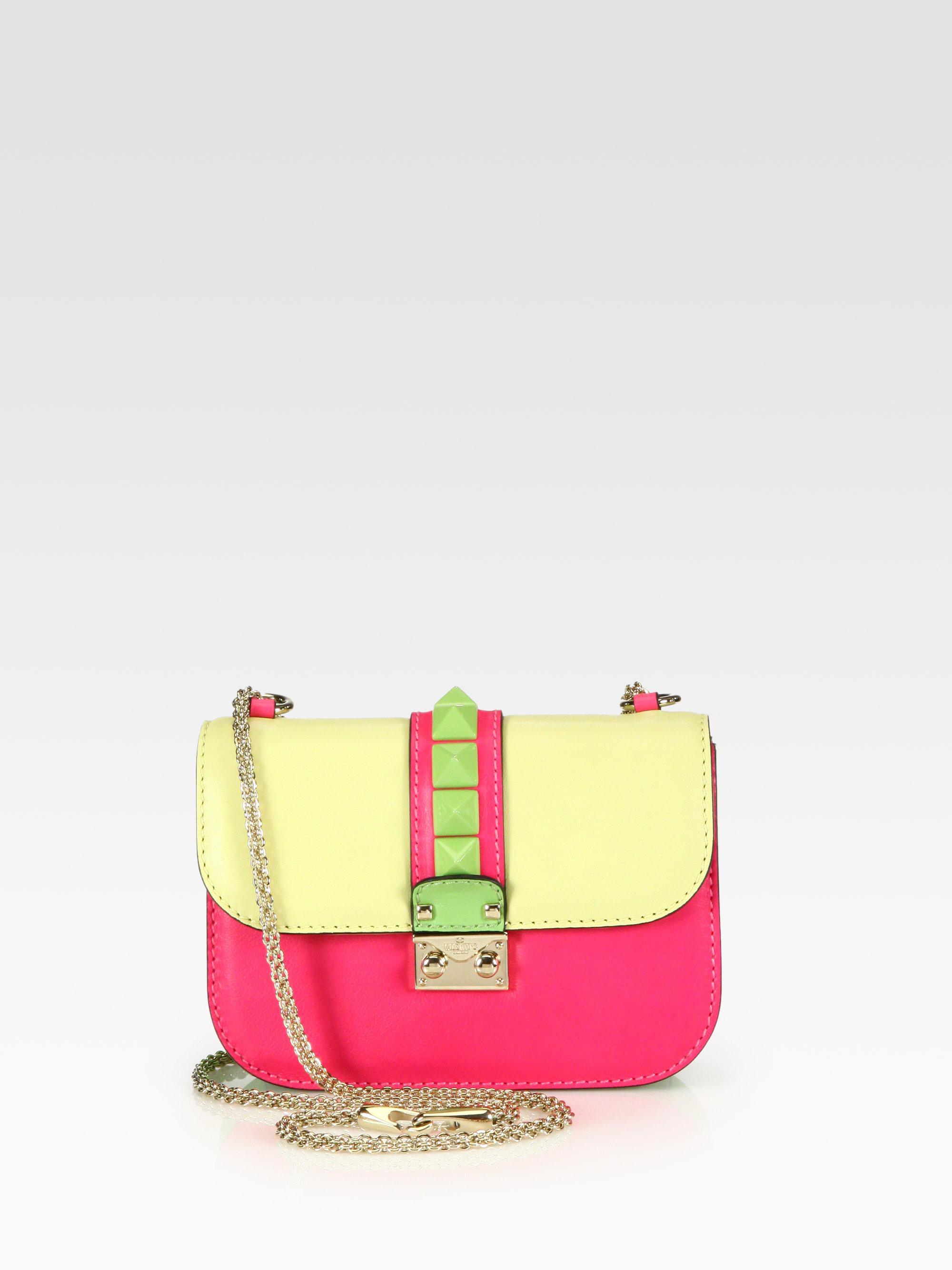 Valentino Colorblock Flap Shoulder Bag 22