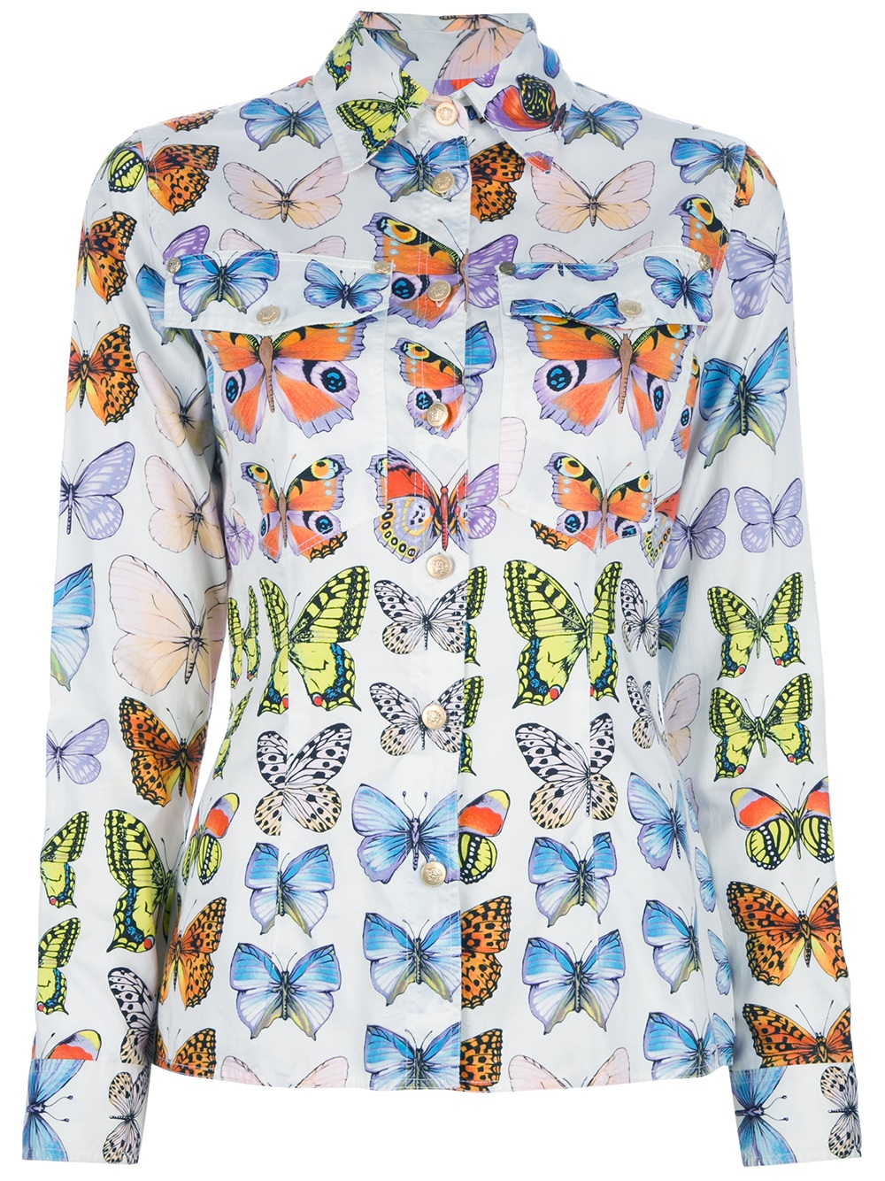 Versace Vintage Butterfly Print Shirt in WhiteVintage Butterfly Print