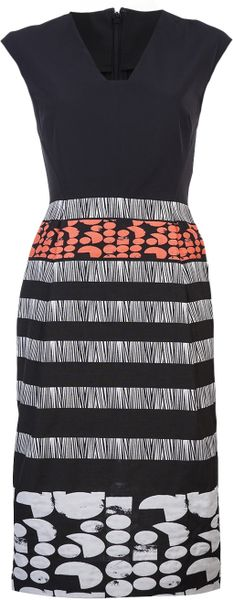Zero + Maria Cornejo Dress in Multicolor (black)