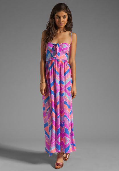 Zinke Zoe Dress in Pink (orchid chevron)