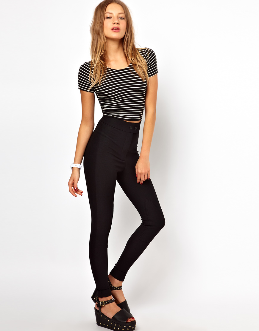 American Apparel Riding Pant In Black