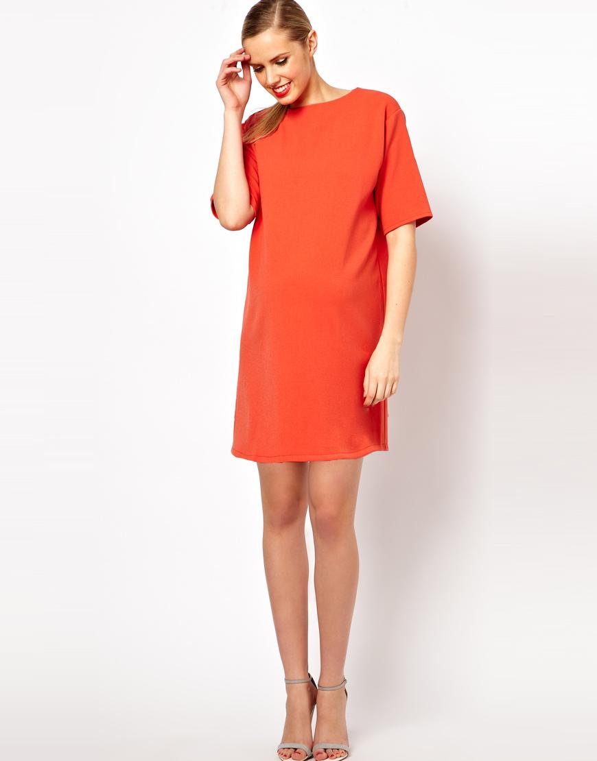 Maternity shift dress good dresses gallery wrangler asos maternity ovoid shift dress in orange lyst ombrellifo Choice Image