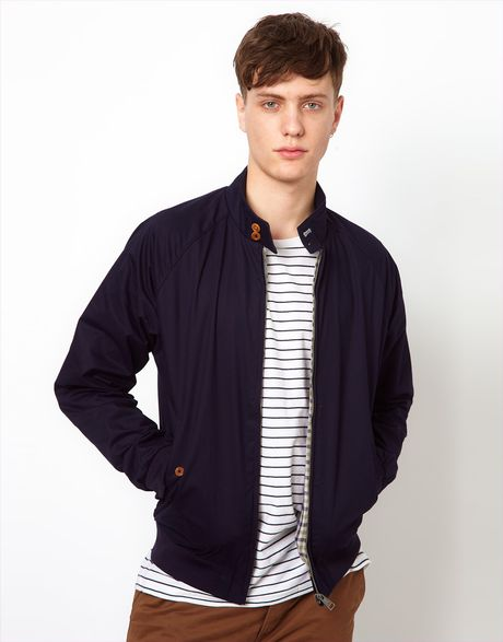 ben sherman harrington bomber jacket in blue for men navy lyst. Black Bedroom Furniture Sets. Home Design Ideas