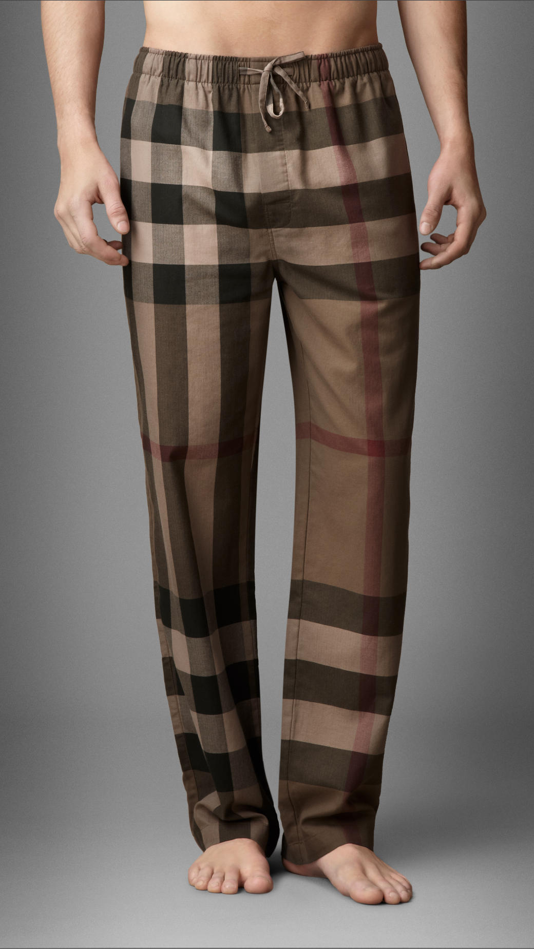 Burberry Check Cotton Pyjama Trousers In Brown For Men Lyst