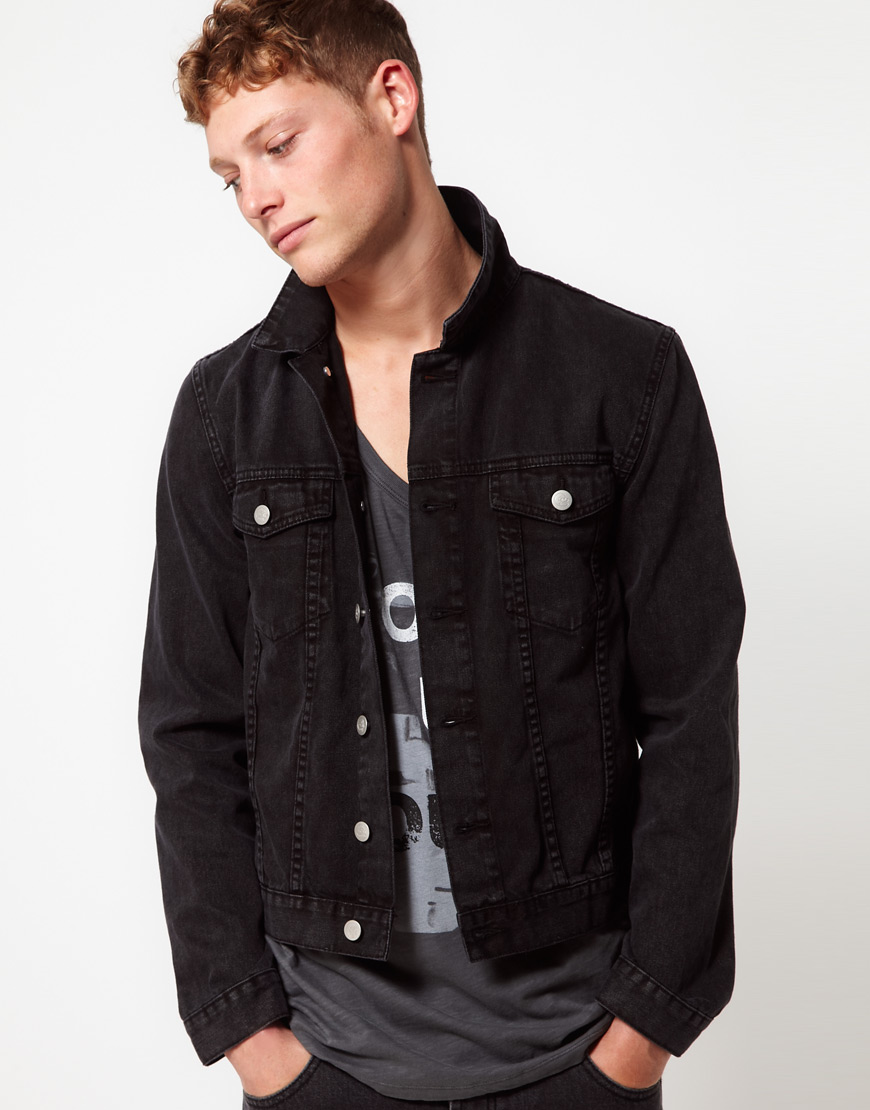 Asos Cheap Monday Tobias Denim Jacket in Black for Men | Lyst