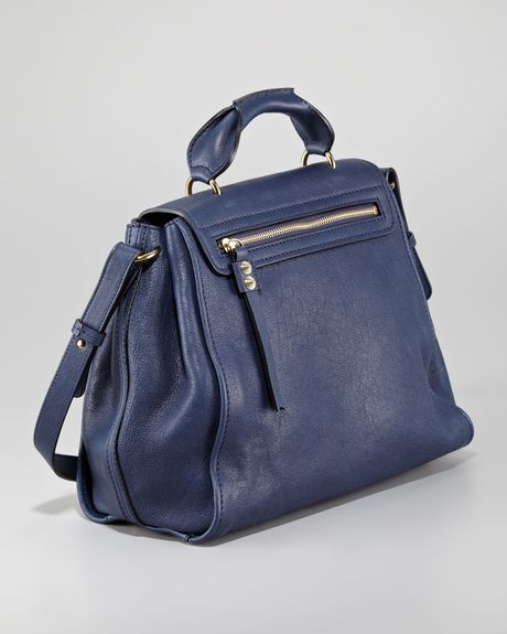 Chloe Elsie Medium Shoulder Bag Capri Night 29