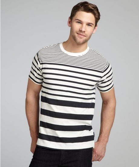 french connection cotton high jump stripe short sleeve t. Black Bedroom Furniture Sets. Home Design Ideas