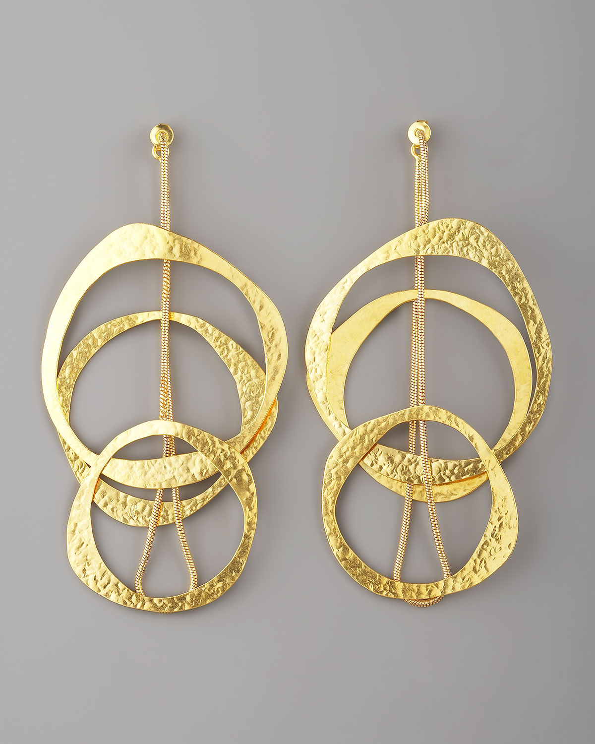 lyst herve van der straeten multicircle earrings in metallic