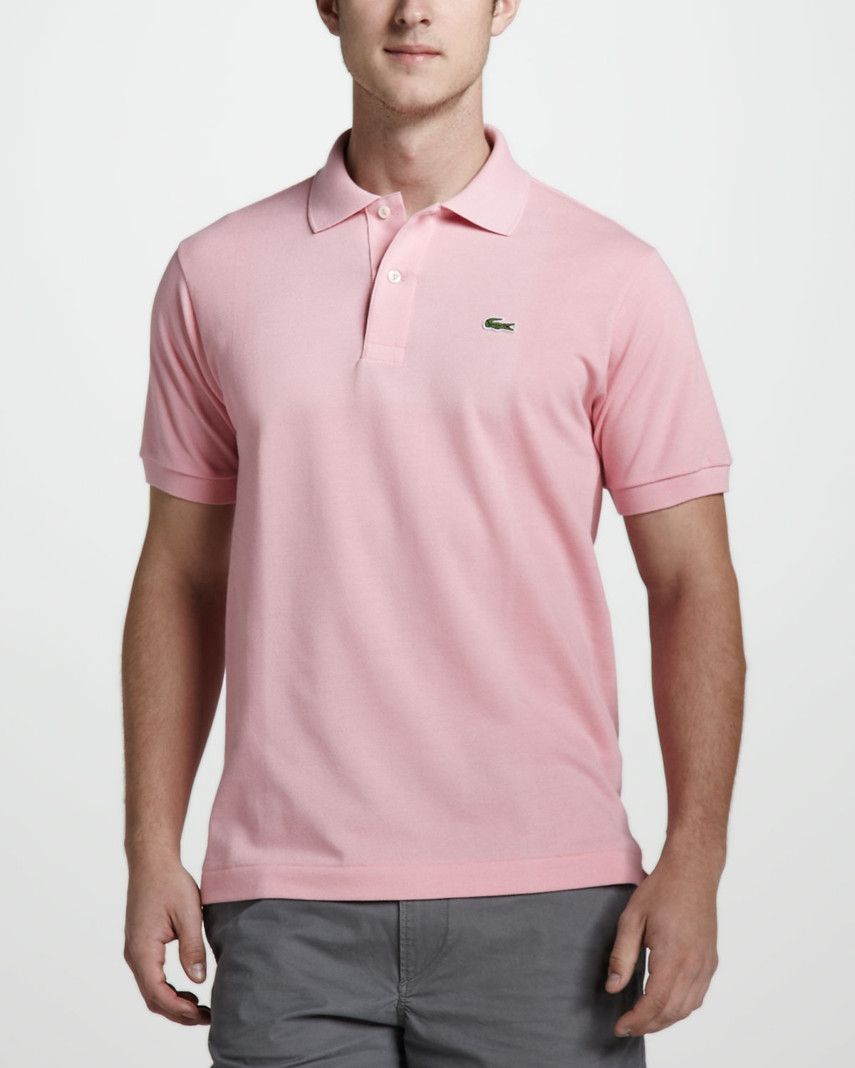 Lyst - Lacoste Classic Pique Polo in Pink for Men