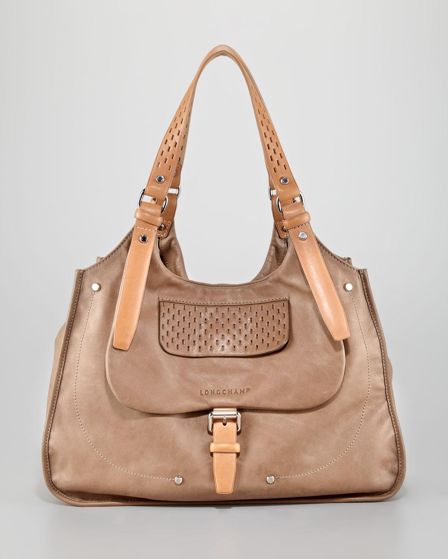 0686ae811 Longchamp Balzane Roots Shoulder Bag Clay in Natural - Lyst