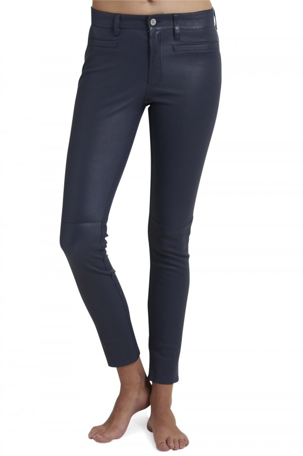 f68f136dc98d9 Navy Leather Pants - Collections Pants Photo Parkerforsenate.Org