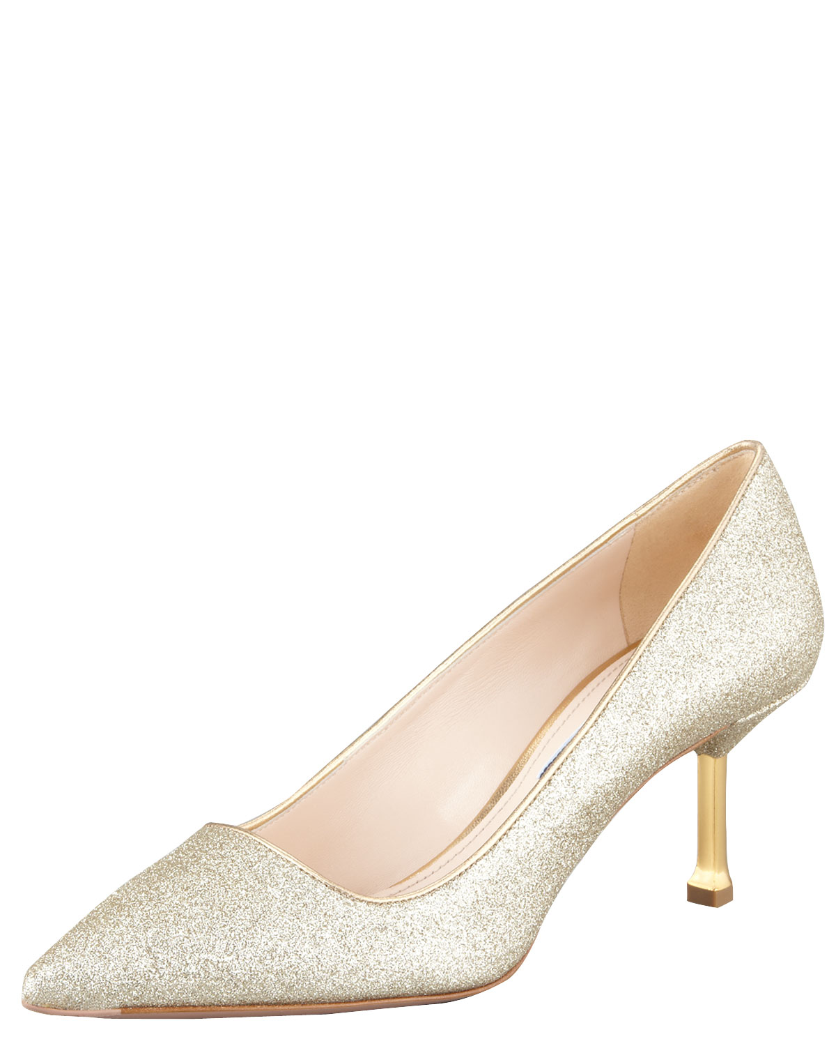 sale low price fee shipping clearance pay with visa Prada Glitter Pointed-Toe Pumps buy cheap newest buy cheap largest supplier 7PLAqympKx