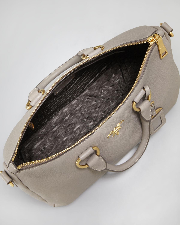prada green purse - Prada Saffiano Bicolor Dome Bag in Gray (grey) | Lyst