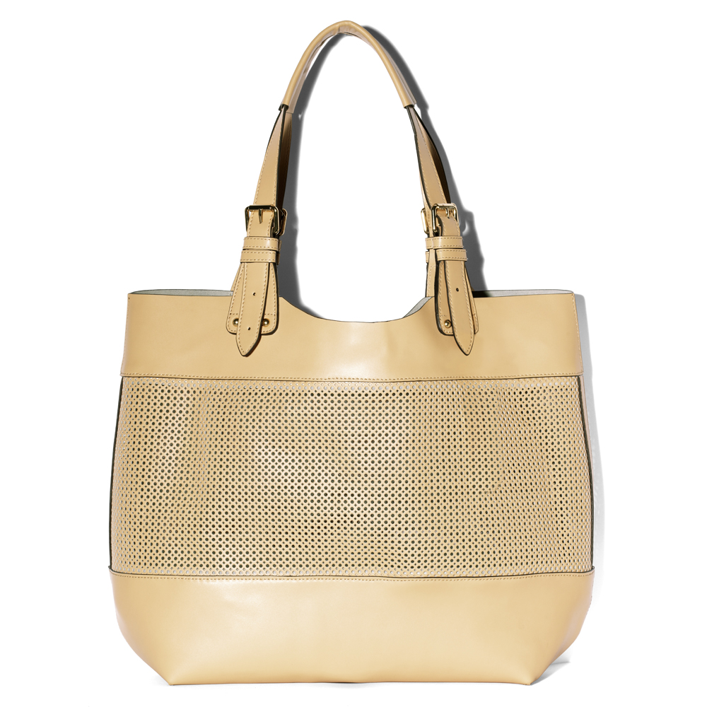 Vince Camuto Perf Tote In Natural Lyst