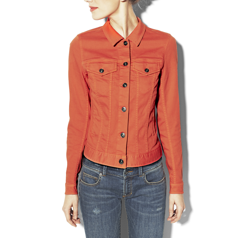 Vince camuto Colored Jean Jacket in Red | Lyst