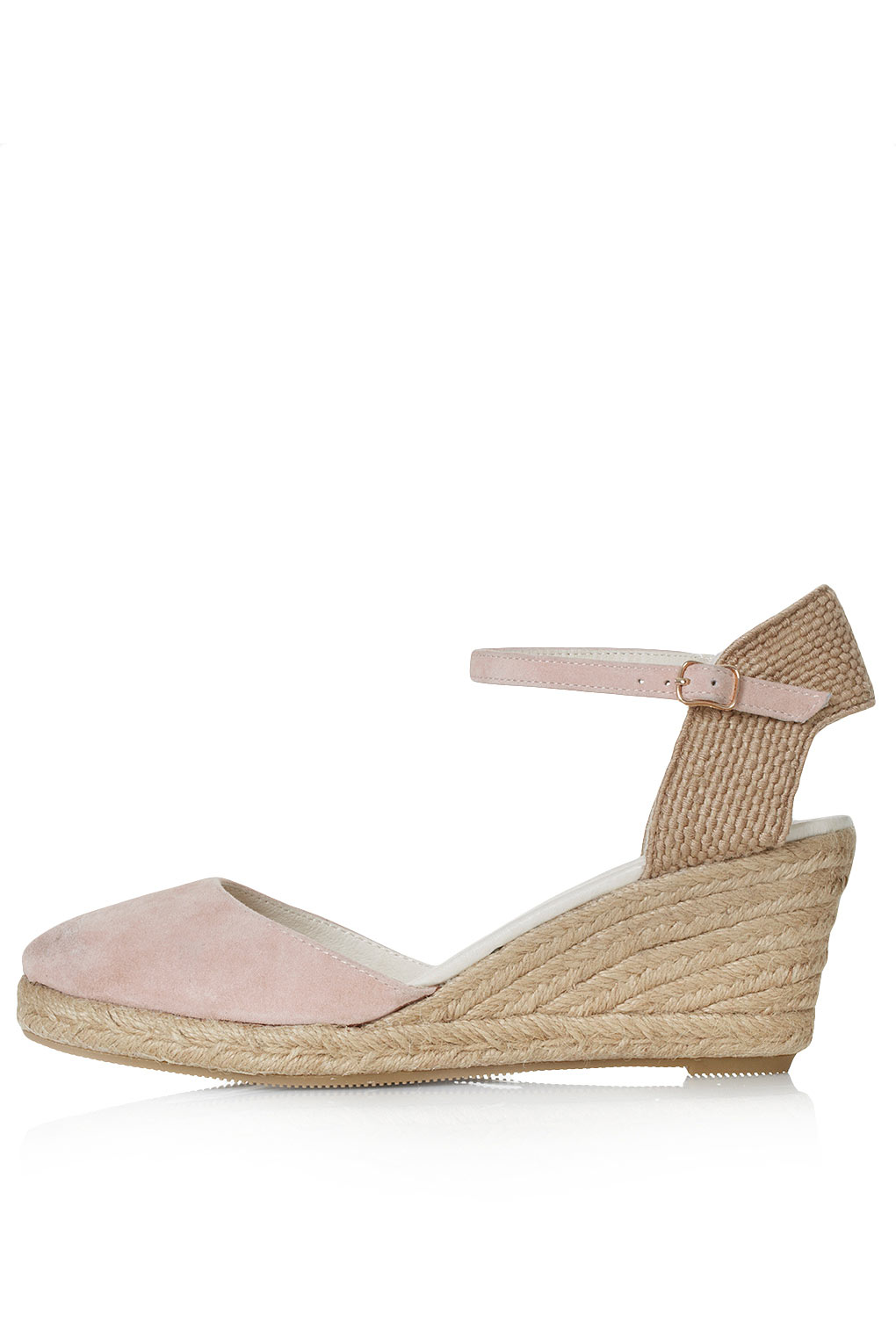 02edd1dbe29104 Lyst - TOPSHOP Wade Closed Toe Espadrilles in Natural
