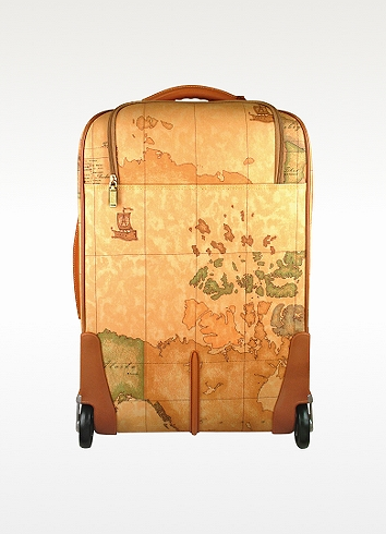 lyst alviero martini 1a classe carry on trolley in brown