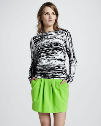 Diane Von Furstenberg Jan Short Knit Skirt - Lyst