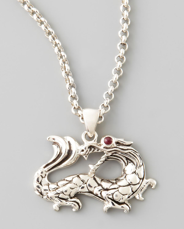 John Hardy Naga Dragon Pendant Necklace In Silver Lyst