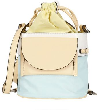 Kenzo Leather and Nylon Shoulder Bag - Lyst