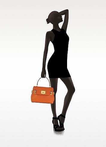 6974f2bfa982d2 Michael Kors Astrid Tangerine Leather Medium Satchel in Orange - Lyst