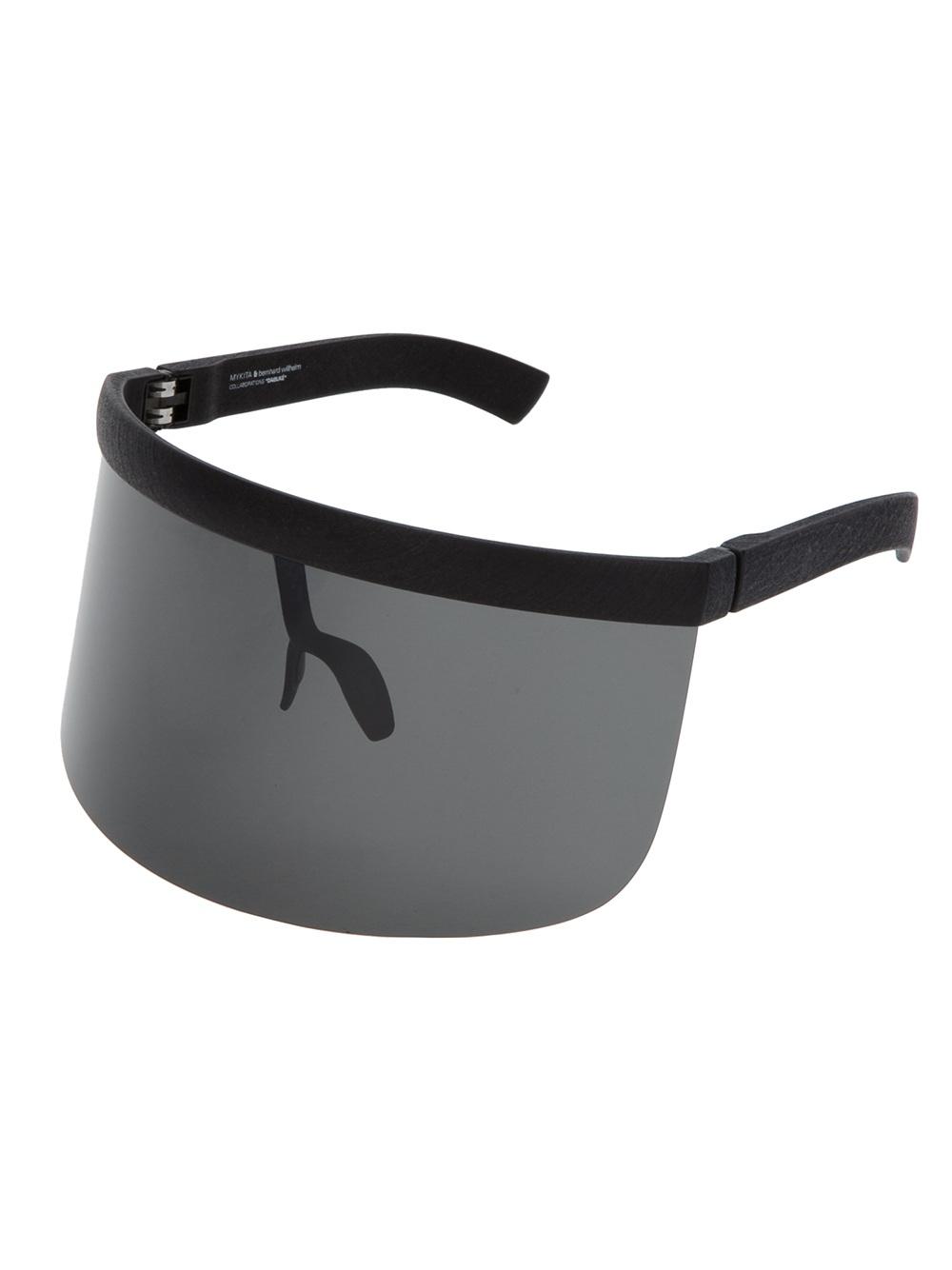 a574be6d61 Bernhard Willhelm Pitch Black Visor Sunglasses in Black - Lyst