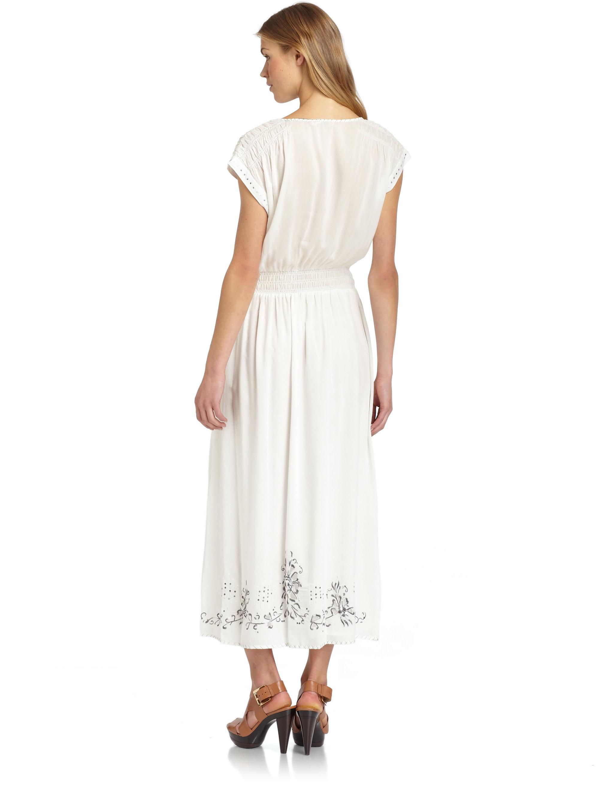 Rebecca taylor moroccan embroidered maxi dress