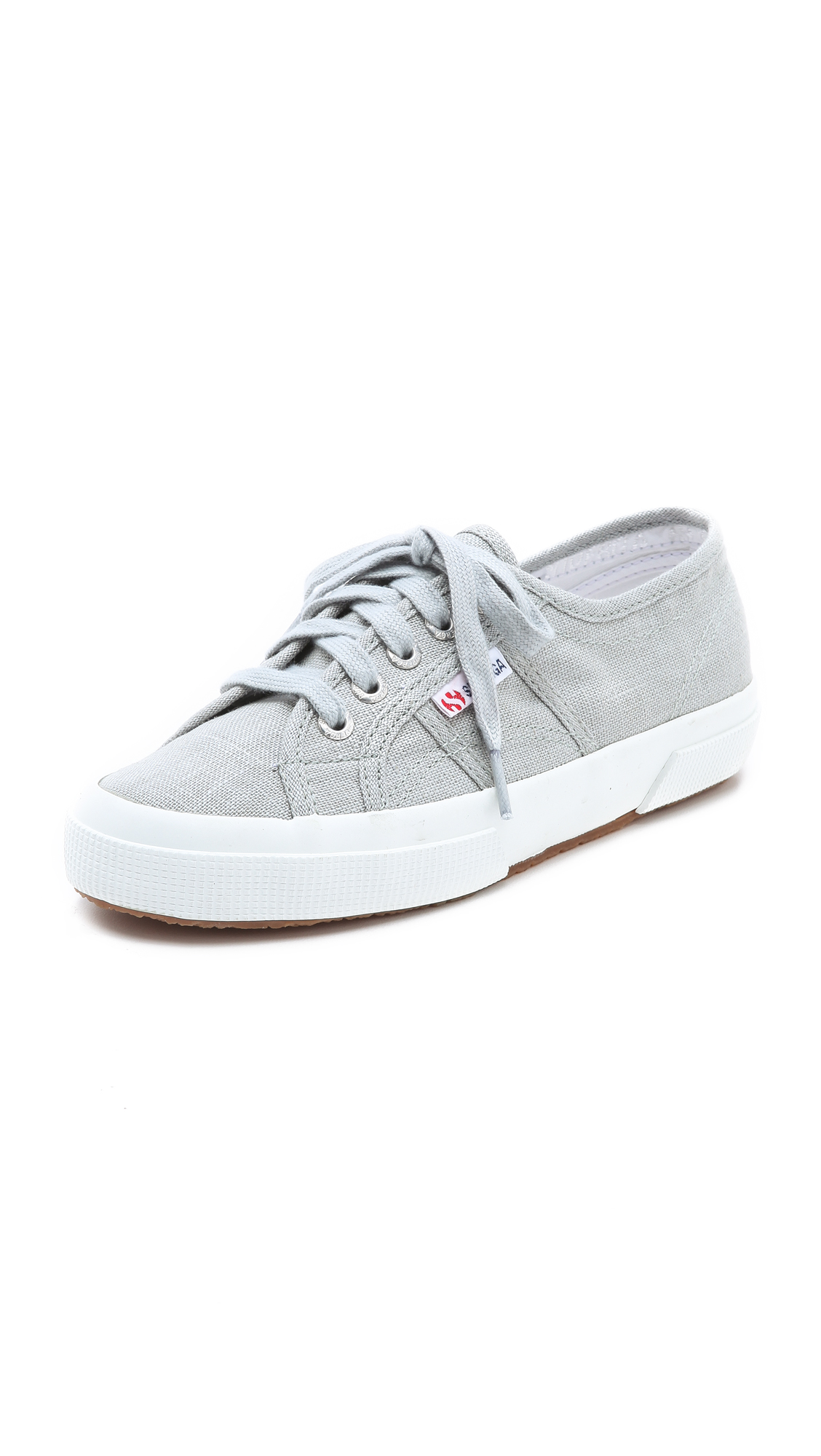 Superga: Superga Linen Sneakers In Gray (grey)