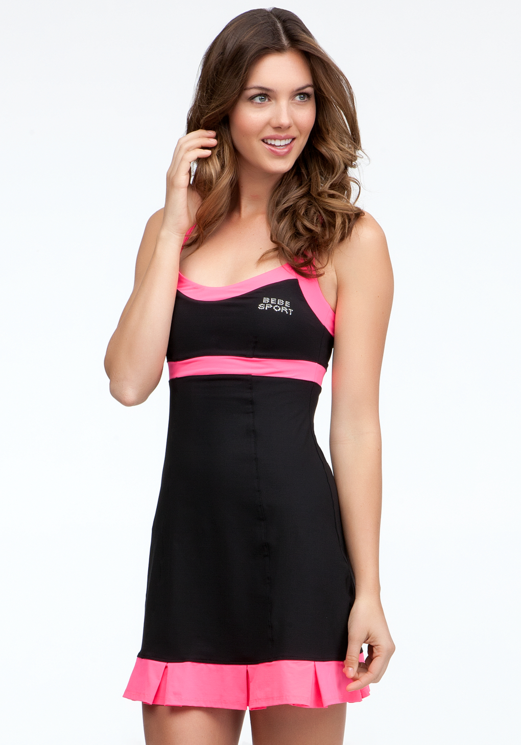 Bebe Colorblock Tennis Dress Bebe Sport in Black | Lyst