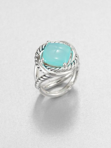 david yurman aqua chalcedony sterling silver ring in