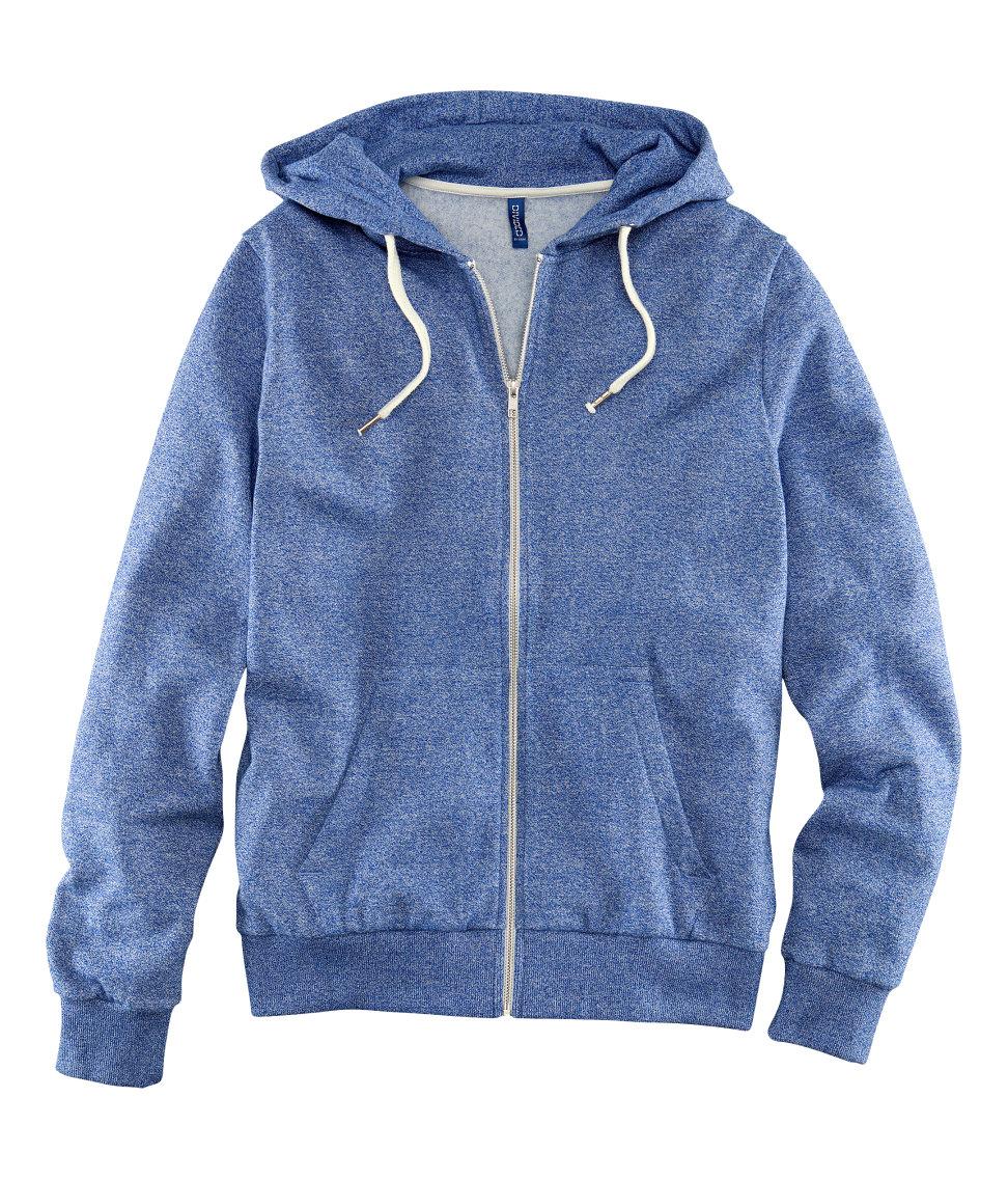 Blue Hooded Jacket f2LHab