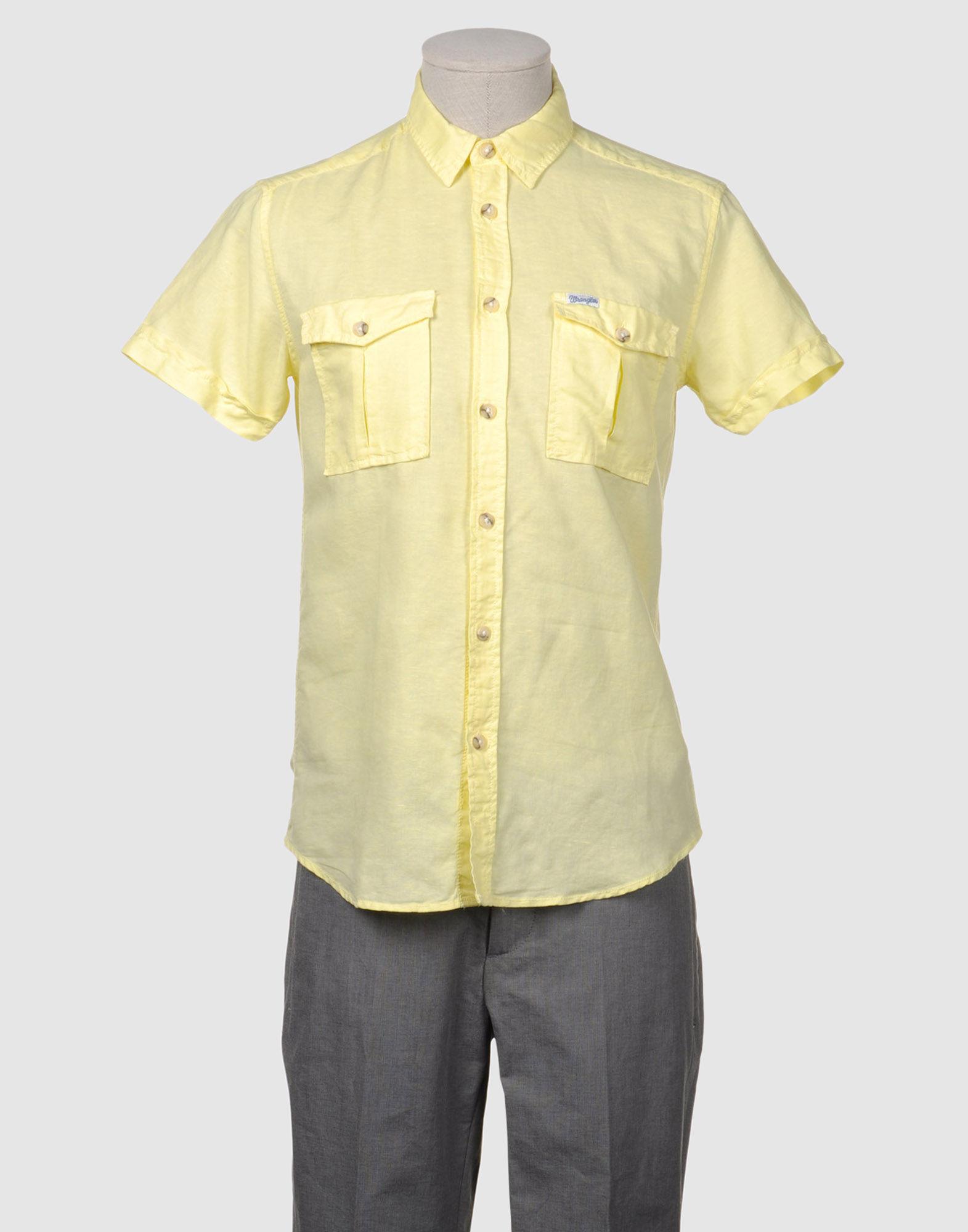 Wrangler Short Sleeve Shirt In Yellow For Men Lyst